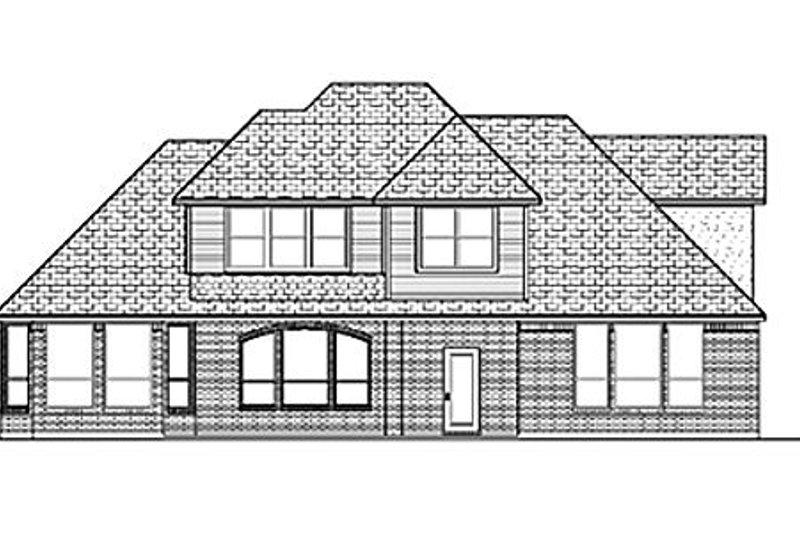 European Exterior - Rear Elevation Plan #84-403 - Houseplans.com