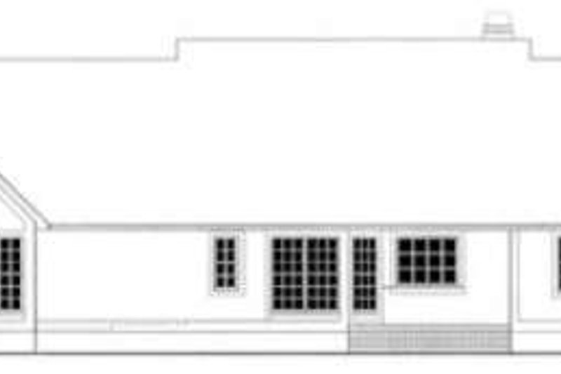 Country Exterior - Rear Elevation Plan #406-238 - Houseplans.com