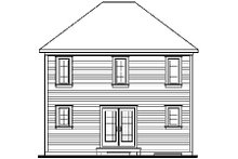 Colonial Exterior - Rear Elevation Plan #23-629