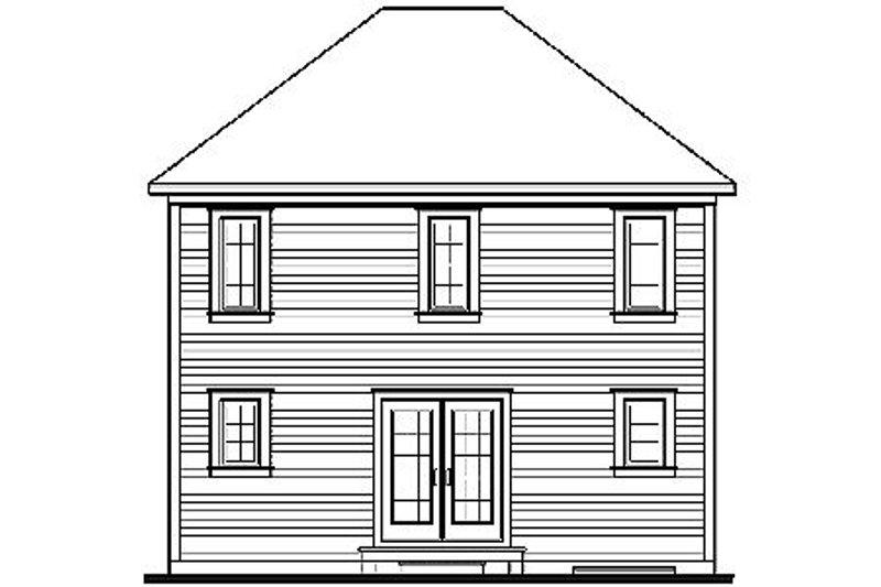 Colonial Exterior - Rear Elevation Plan #23-629 - Houseplans.com