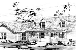 Country Exterior - Front Elevation Plan #10-233
