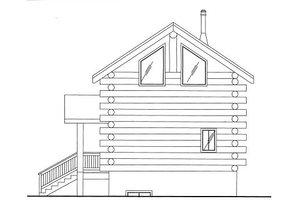 Log Exterior - Front Elevation Plan #117-797