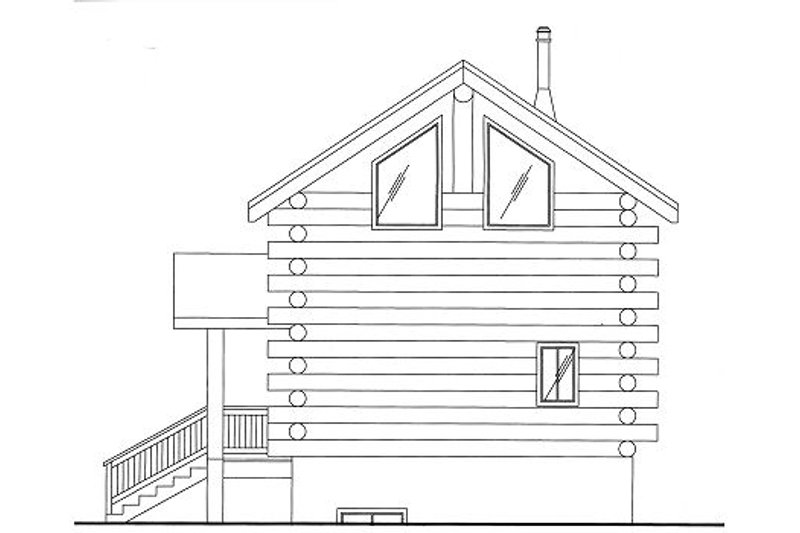 Log Style House Plan - 0 Beds 1 Baths 640 Sq/Ft Plan #117-797 Exterior - Front Elevation
