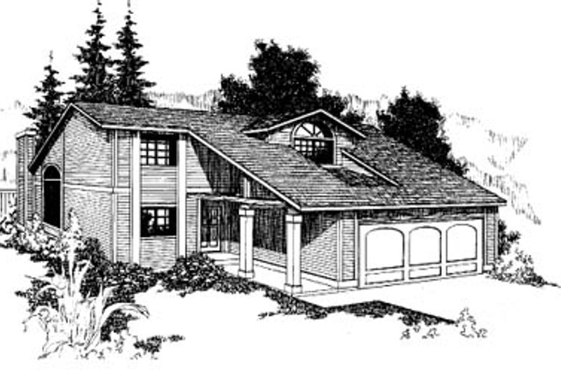 Exterior - Front Elevation Plan #60-126