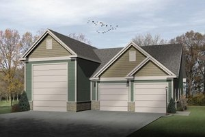 Architectural House Design - Traditional Exterior - Front Elevation Plan #22-430