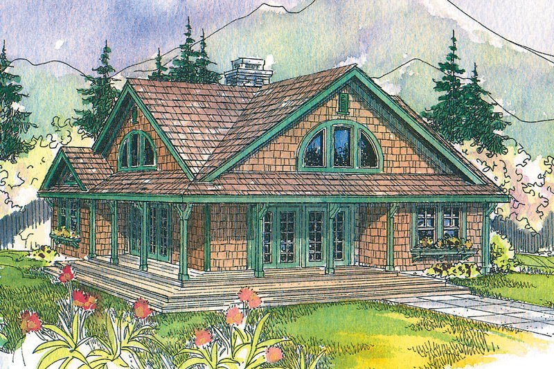 Craftsman Exterior - Front Elevation Plan #124-1149