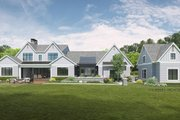 Farmhouse Style House Plan - 4 Beds 3.5 Baths 4414 Sq/Ft Plan #928-340 Exterior - Rear Elevation