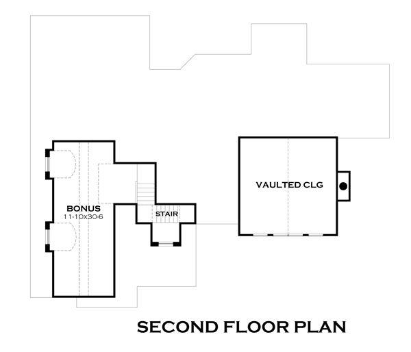 Craftsman Floor Plan - Upper Floor Plan Plan #120-181