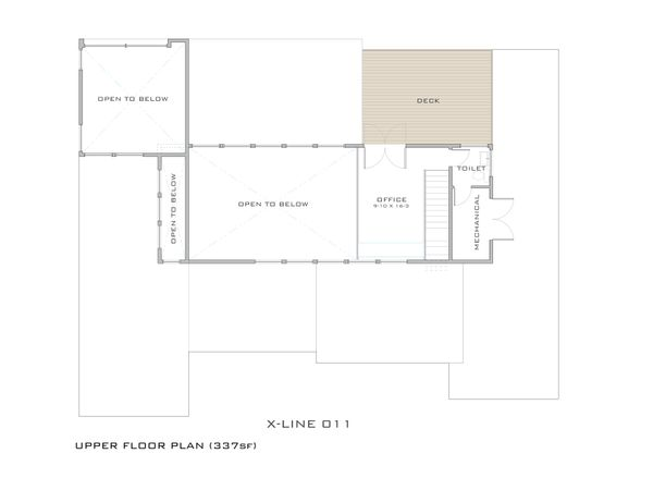Modern Floor Plan - Upper Floor Plan #909-4