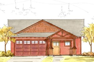Craftsman Exterior - Front Elevation Plan #895-40