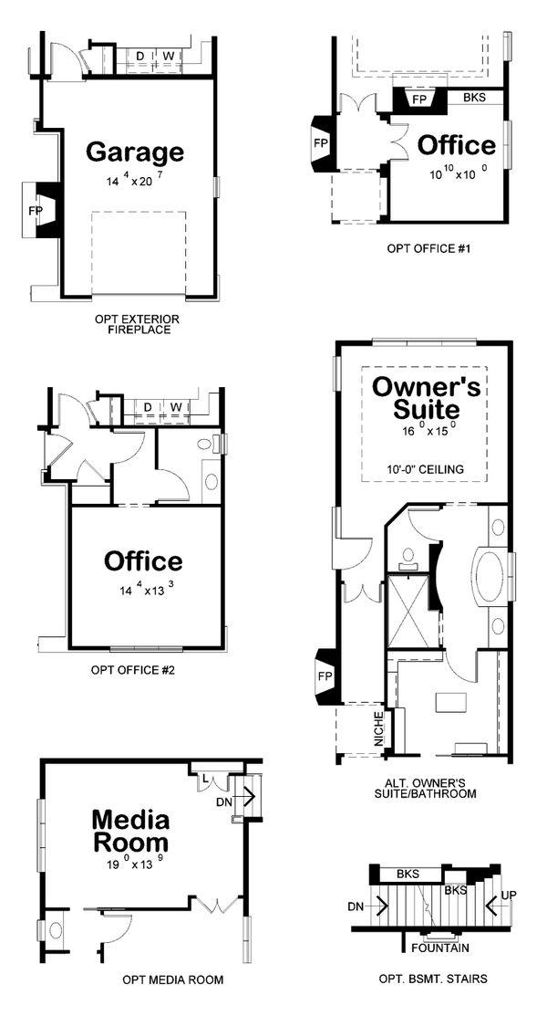 Dream House Plan - European Floor Plan - Other Floor Plan #20-2437