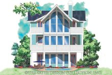 Architectural House Design - Craftsman Exterior - Rear Elevation Plan #930-151