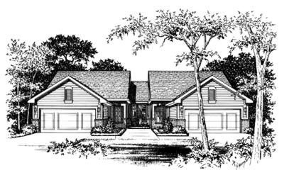 Traditional Exterior - Front Elevation Plan #20-394 - Houseplans.com