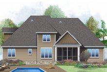 House Design - European Exterior - Rear Elevation Plan #929-1022