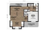 Ranch Style House Plan - 1 Beds 1 Baths 710 Sq/Ft Plan #1077-8 Floor Plan - Main Floor