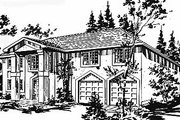 European Style House Plan - 3 Beds 2 Baths 1545 Sq/Ft Plan #18-218 Exterior - Front Elevation