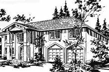 House Blueprint - European Exterior - Front Elevation Plan #18-218