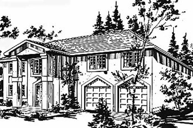 European Exterior - Front Elevation Plan #18-218