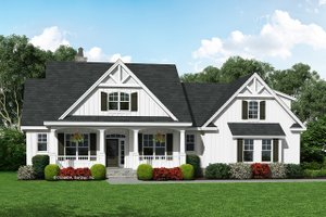 Dream House Plan - Farmhouse Exterior - Front Elevation Plan #929-1055