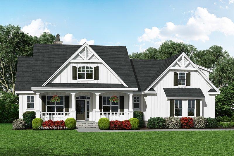 Architectural House Design - Farmhouse Exterior - Front Elevation Plan #929-1055