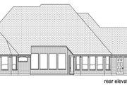 European Style House Plan - 3 Beds 2.5 Baths 2709 Sq/Ft Plan #84-616 Exterior - Rear Elevation