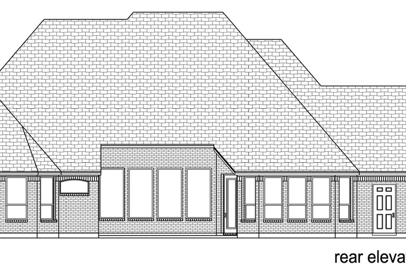 European Exterior - Rear Elevation Plan #84-616 - Houseplans.com