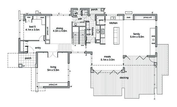 Modern Floor Plan - Main Floor Plan Plan #496-1
