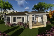 Dream House Plan - Ranch Exterior - Rear Elevation Plan #70-1266