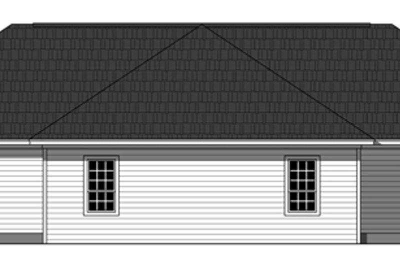 Traditional Exterior - Rear Elevation Plan #21-326 - Houseplans.com
