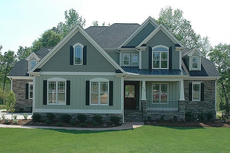 Craftsman style, European designed, elevation