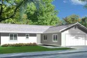 Mediterranean Style House Plan - 2 Beds 2 Baths 1325 Sq/Ft Plan #1-1178 Exterior - Front Elevation