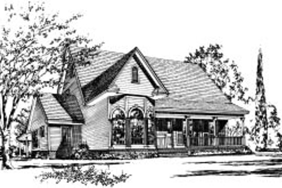 Traditional Exterior - Front Elevation Plan #37-173