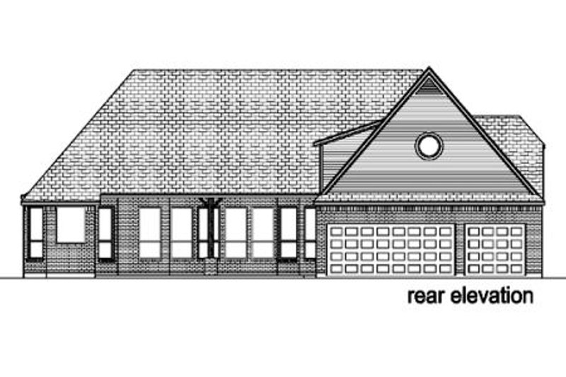 European Exterior - Rear Elevation Plan #84-422 - Houseplans.com