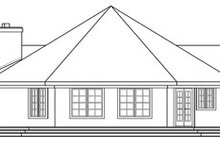 Dream House Plan - Ranch Exterior - Rear Elevation Plan #124-729