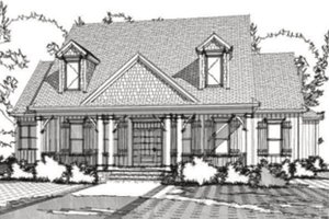 Cottage Exterior - Front Elevation Plan #63-351