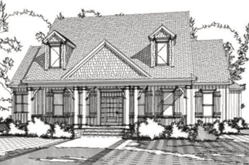 Cottage Style House Plan - 4 Beds 3 Baths 3713 Sq/Ft Plan #63-351 Exterior - Front Elevation