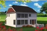 Traditional Style House Plan - 3 Beds 2.5 Baths 2622 Sq/Ft Plan #70-1201 Exterior - Rear Elevation