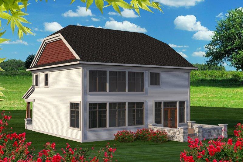 Traditional Exterior - Rear Elevation Plan #70-1201 - Houseplans.com