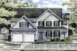 Country Exterior - Front Elevation Plan #316-107