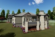 Farmhouse Style House Plan - 2 Beds 2.5 Baths 2442 Sq/Ft Plan #1069-21 Exterior - Rear Elevation