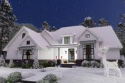 Farmhouse Style House Plan - 4 Beds 4 Baths 2191 Sq/Ft Plan #120-259 Exterior - Front Elevation