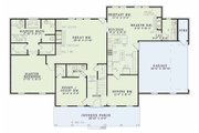 Country Style House Plan - 4 Beds 3 Baths 2789 Sq/Ft Plan #17-556 Floor Plan - Main Floor