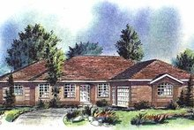 House Blueprint - Ranch Exterior - Front Elevation Plan #18-152