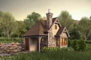 Tudor Style House Plan - 1 Beds 1 Baths 300 Sq/Ft Plan #48-641 Exterior - Front Elevation