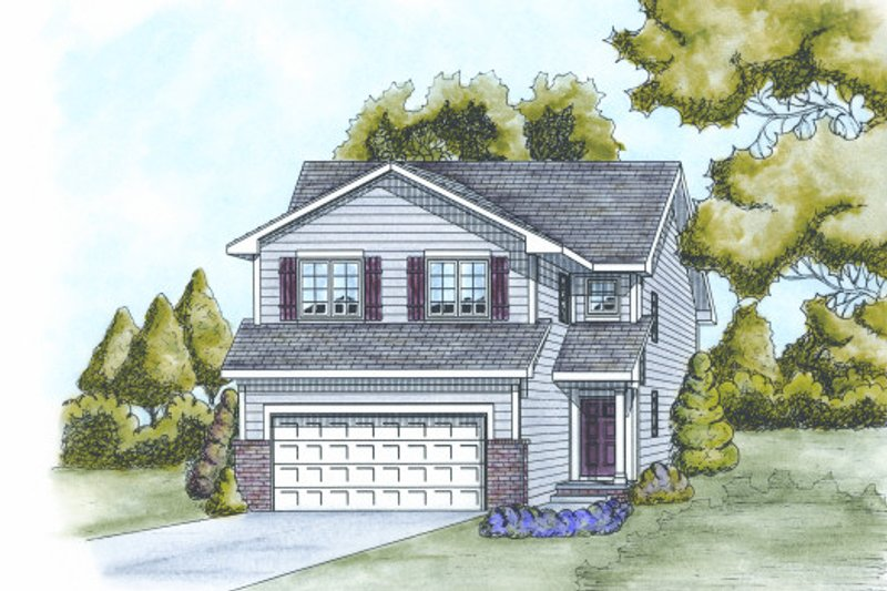 Traditional Exterior - Front Elevation Plan #20-2101 - Houseplans.com