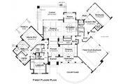European Style House Plan - 3 Beds 3.5 Baths 3230 Sq/Ft Plan #120-185 Floor Plan - Main Floor Plan