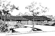 Ranch Style House Plan - 2 Beds 2 Baths 2014 Sq/Ft Plan #303-427 Exterior - Front Elevation