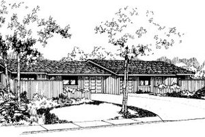 Ranch Exterior - Front Elevation Plan #303-427