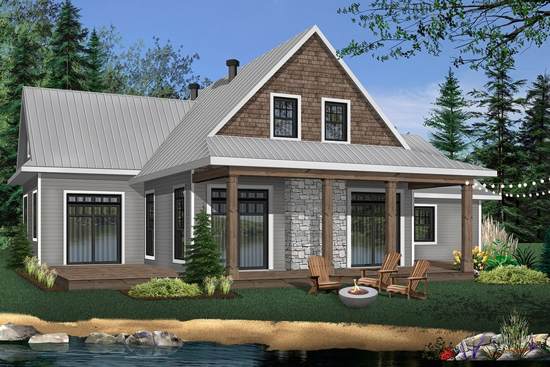 Dream House Plan - Craftsman Exterior - Front Elevation Plan #23-2709