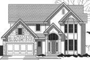 Traditional Style House Plan - 4 Beds 3 Baths 2583 Sq/Ft Plan #67-810 Exterior - Front Elevation